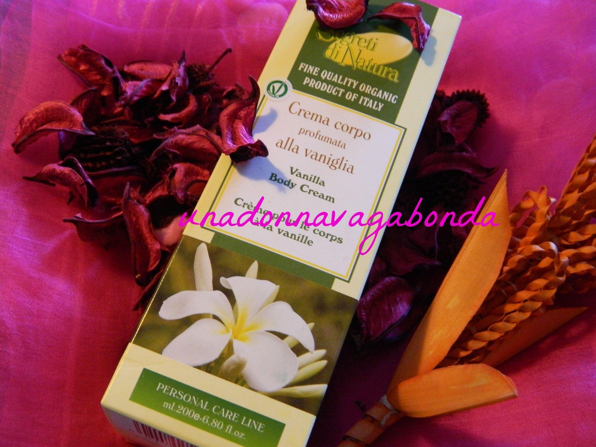 segreti di natura crema corpo alla vaniglia 200 ml