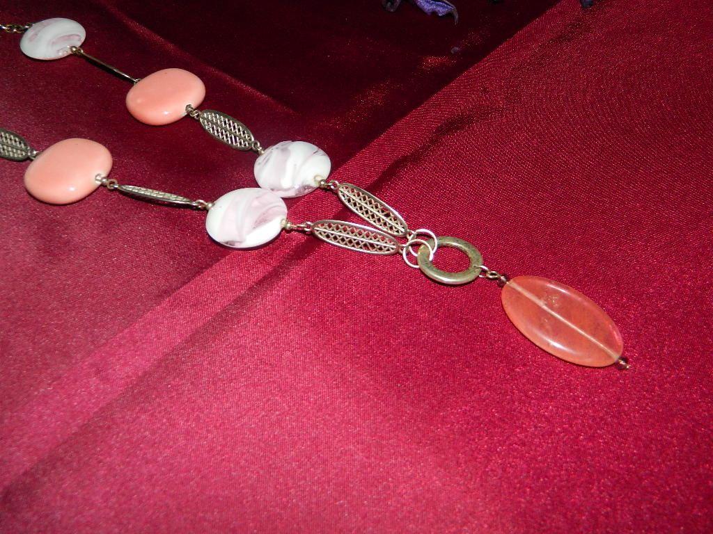 Collana india rosa