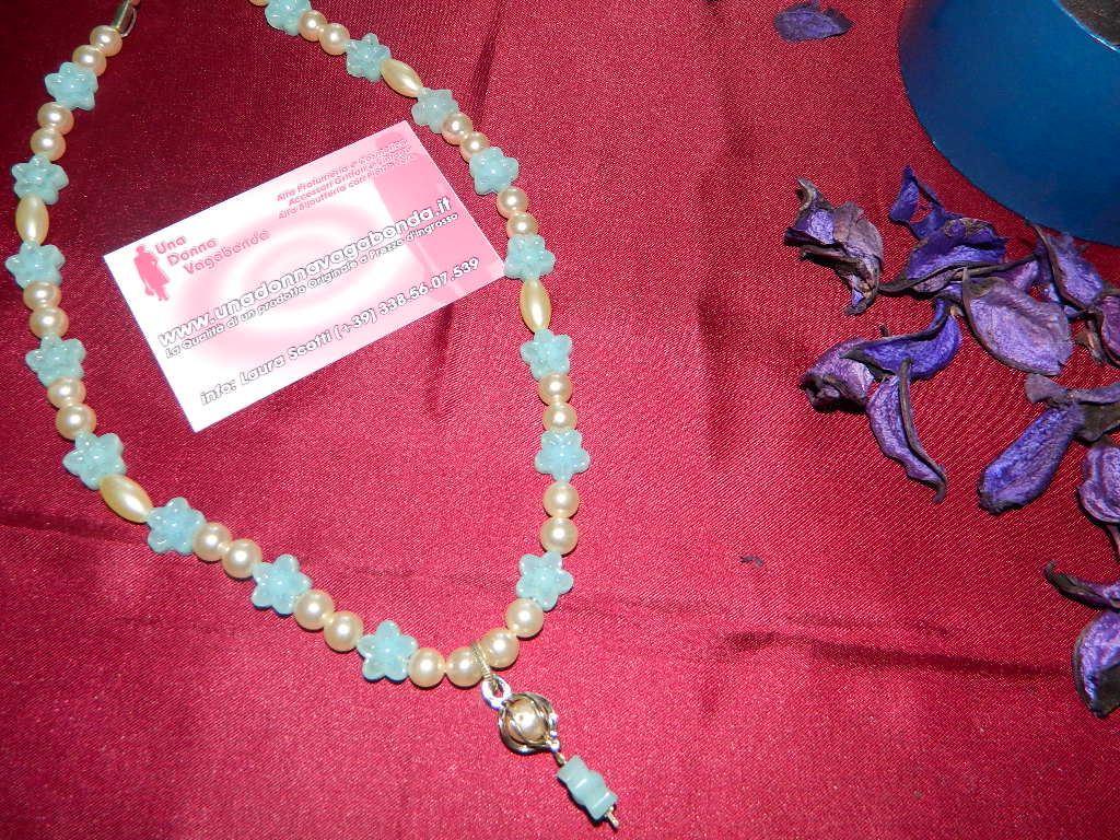 Collana perla flower