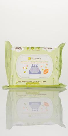 La saponaria le albicoccole Salviette detergenti delicate