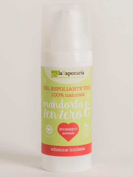 Lasaponaria gel esfoliante viso mandorla e zenzero