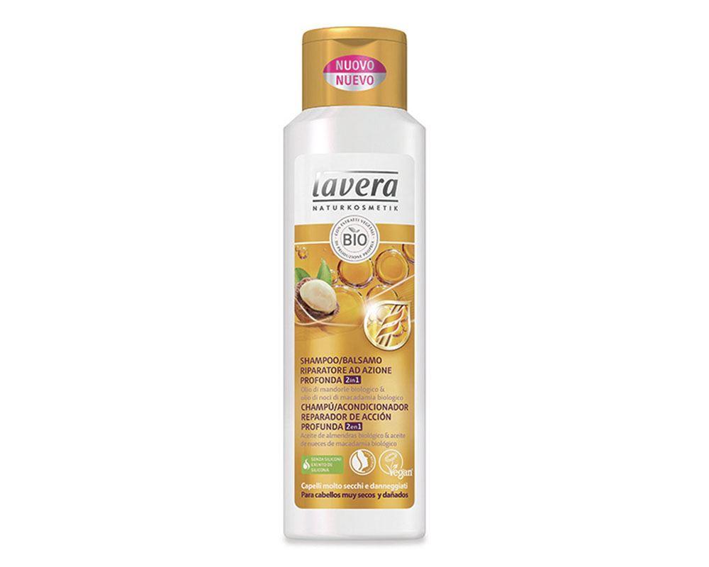 Lavera shampoo/balsamo riparatore ad azione profonda 2in1