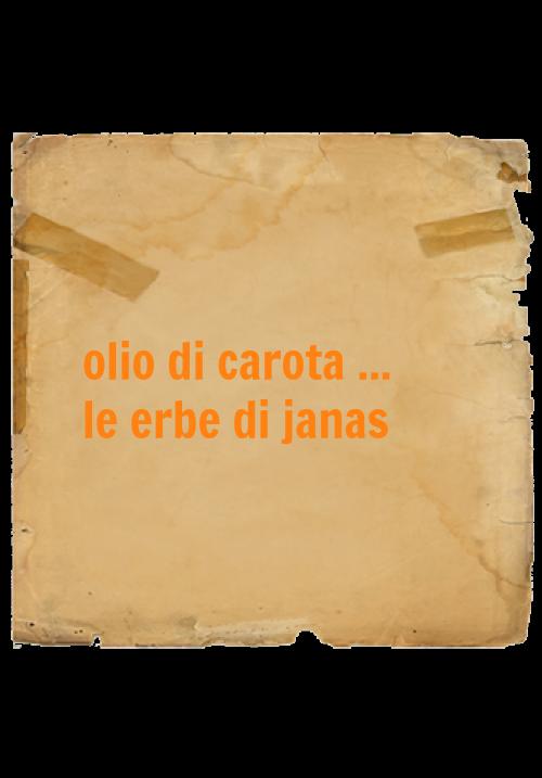 Le erbe di Janas olio di carota 50ml