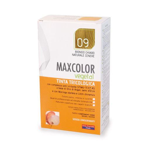 Max Color Vegetal 09 Biondo Chiaro Naturale Cenere