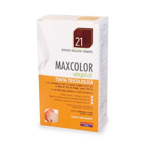 Max Color Vegetal 21 Biondo Ruggine Ramato